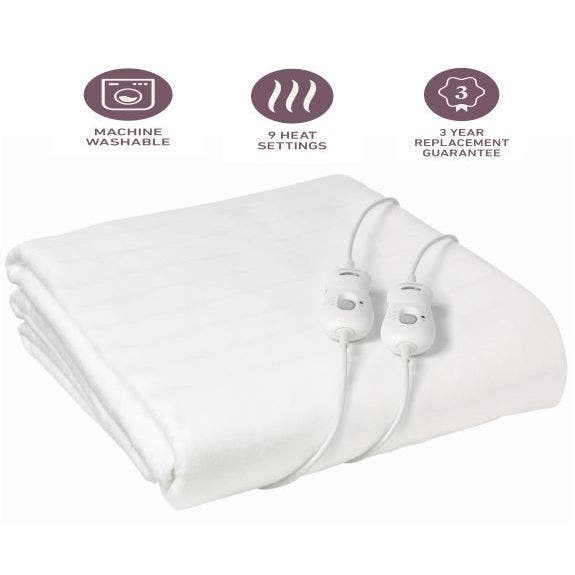 Sunbeam Sleep Perfect Fitted Electric, Sunbeam Sleep Perfect Quilted Electric Blanket Queen Bed Review