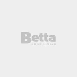 AVALON Queen Bed Upholstered Fabric Dark Grey