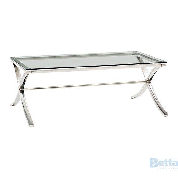 Ibeza Ibeza Coff Coffee Table Stainless Steel Frame Glass T 1200x780x4