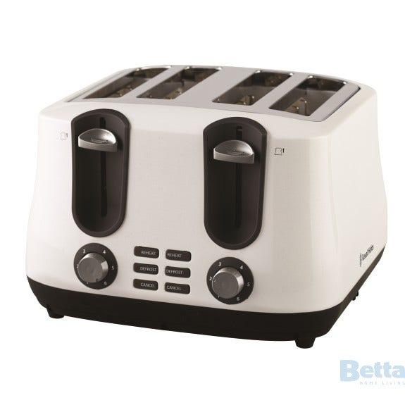 russell hobbs rht44whi toaster 4 slice siena white diamonds. Black Bedroom Furniture Sets. Home Design Ideas
