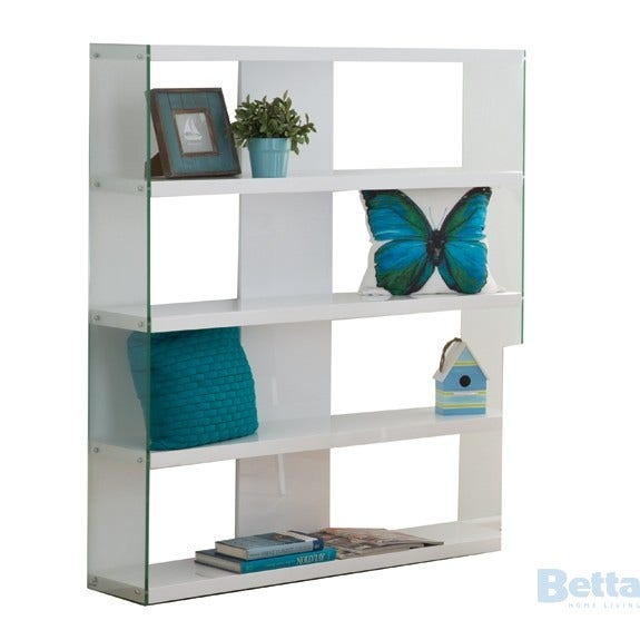 Chase CHASE-LGE-B/CASE Bookcase High Gloss White