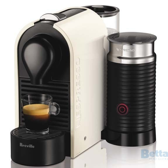 breville bec300mw coffee machine nespresso u milk pure white. Black Bedroom Furniture Sets. Home Design Ideas