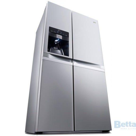 lg gc l227fnsl refrigerator side by side 590 litre. Black Bedroom Furniture Sets. Home Design Ideas
