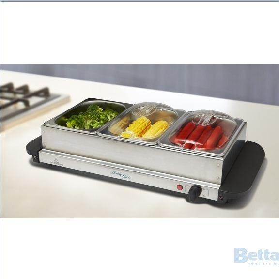 3 Tray Food Warmer ~ Lenoxx fw food warmer trays