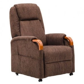 Barrington Lift Chair Brown Fabric